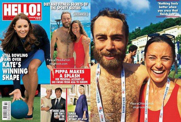 CANDIDAoût 2014 :  _________________________________________________  Pippa & James sont en couverture de Magazine HELLO, on peut y apercevoir aussi la Duchesse de Cambridge.