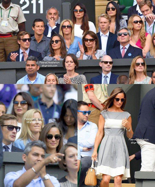 WIMBLEDON 6 Juillet 2014 :  _________________________________________________   La famille Middleton sans James, mais aussi Nico était présent à la final hommes de Wimbledon, le Duc & Duchesse de Cambridges était également présents, mais pas aux côtés de la famille de celle-ci.