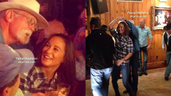 CANDID Novembre 2014 :  _________________________________________________  Pippa est USA dans un lieu de Cowboy, on y voit la belle danser.
