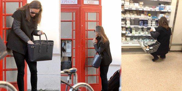 CANDID 14 Janvier 2015 :  _________________________________________________  Pippa a été vue promenant dans les rues de Londres + une photo prise de dos de la jolie brune, alors qu'elle fait des courses dans un supermarché Waitrose de la capitale.