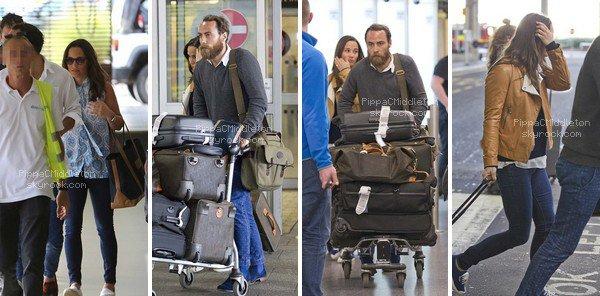 .   08.01.2016, Pippa & James ont été vus quittant Antigua & de retour à l'Aéroport de Gatwick.  .