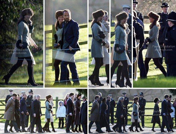 .   10.01.2016, Les Middleton & la famille Royale Britannique se sont rendus à Sandrigham pour marqué la fin de la Campagne de Galliopoli.  .