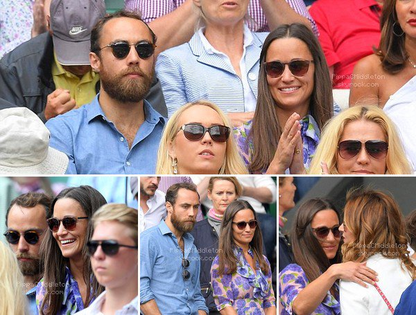- 07/07/2016 : Pippa & son frère James se sont rendus dans le Box Royal à Wimbledon : Tenue : Robe Beautiful Soul London 450£ - Pochette Kiki McDonough 150£ -