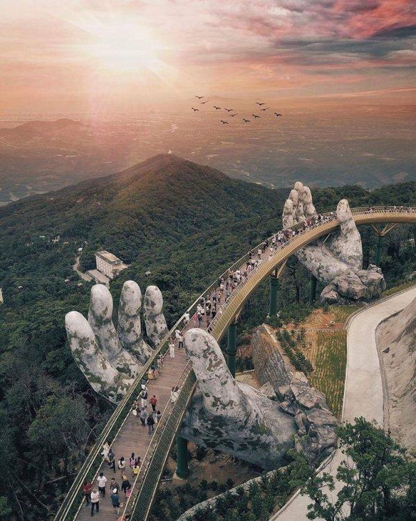 un pont supendu