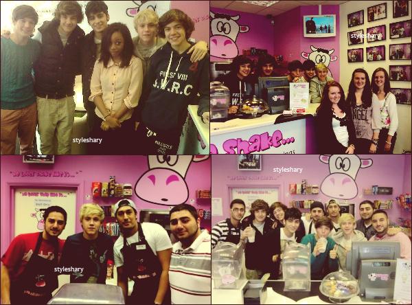 25 septembre : Les One Direction étaient aux MilkShake City.