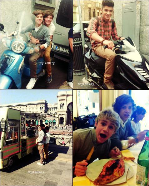 03 octobre :  Des photos des garçons à Milan, en Italie.