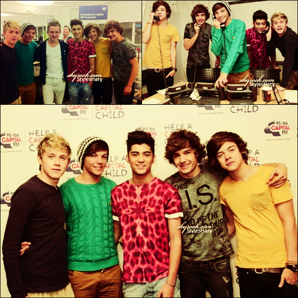 15 octobre : Les garçons étaient à Capital FM pour répondre au téléphone et pouvoir récolter des dons.