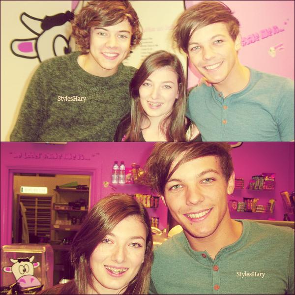 19 octobre : Louis et Harry étaient au Milshake City, où ils ont rencontré une fan.