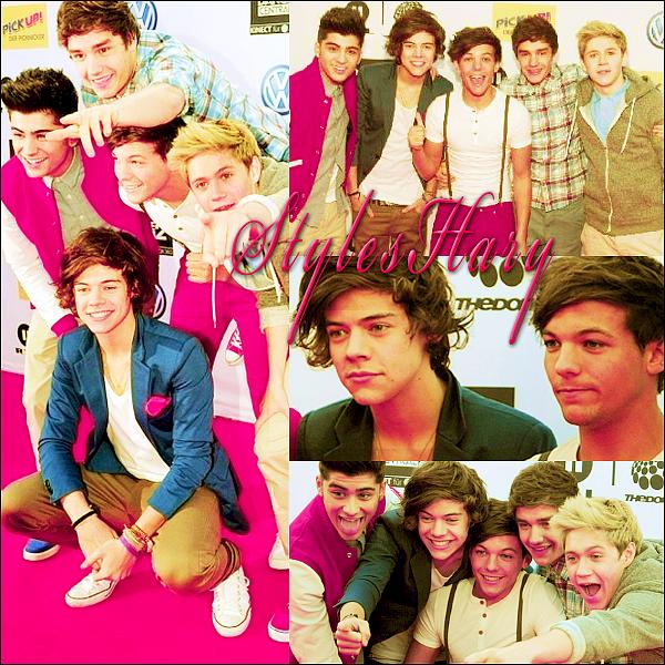 Les One Direction en Allemagne.