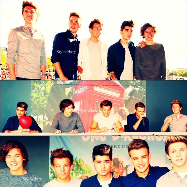 22/09: Les garçons étaient à Cologne en Allemagne pour une séance de dédicaces.