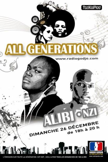 """N-ZI et ALIBI MONTANA ce dimanche 26 sur radio godgo dans """"ALLgeneration""""!!! a 18h!!!!!"""