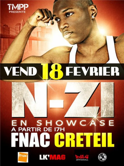 N-ZI sera en SHOWCASE FNAC Creteil le 18 Fevrier