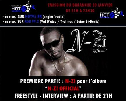 N-ZI sur radio HOT95 ce dimache a 21h!!!!!