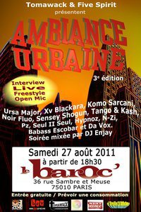 """N-ZI sur scene pour """" AMBIANCE URBAINE III """" le 27 AOUT!!!"""