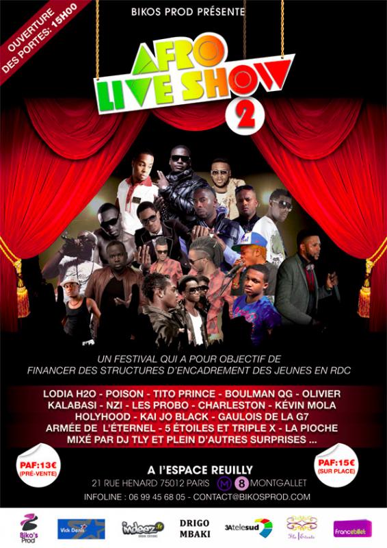 """N-ZI en live pour """" AFRO LIVE SHOW II"""" le 19 mai !!!"""