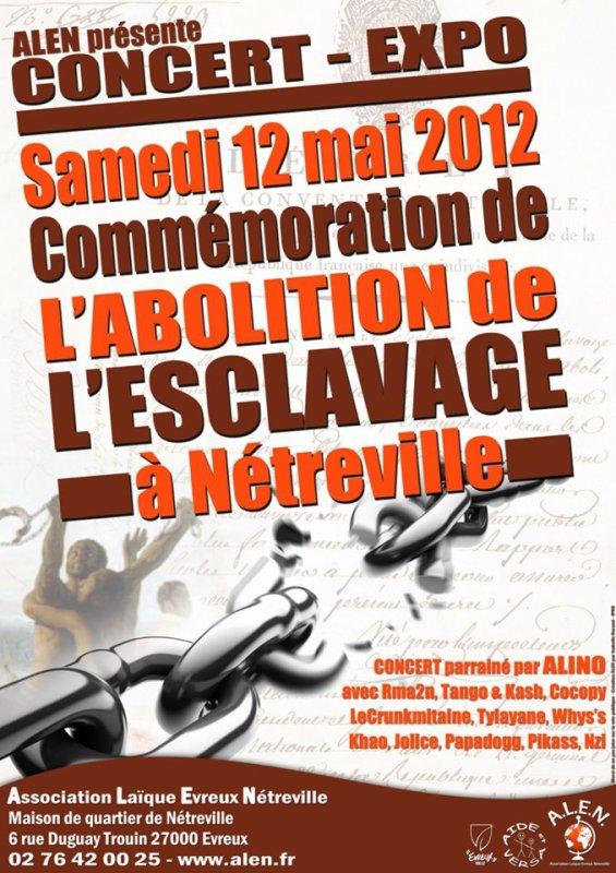 """N-ZI en live le 12 Mai """" Commémoration abolition ESCLAVAGE"""" a Netreville"""
