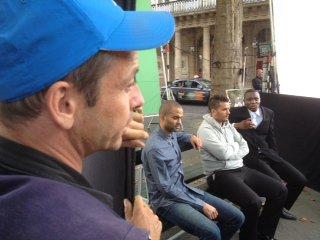 tournage pub avec TONY PARKER et Marcel DESAILLY