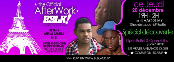 N-ZI a after work BEBLACK TV ce jeudi!!!