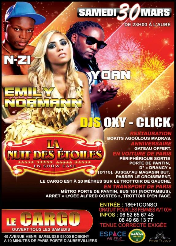 """N-ZI en showcase le 30 mars..."""" LA Nuit des Etoiles"""""""