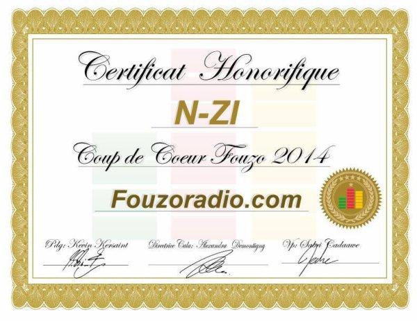 """N-ZI élu """" Coup de coeur FOUZO radio"""" au CANADA!!"""