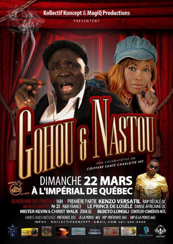N-ZI en 1er partie de GOHOU Michel au CANADA!!