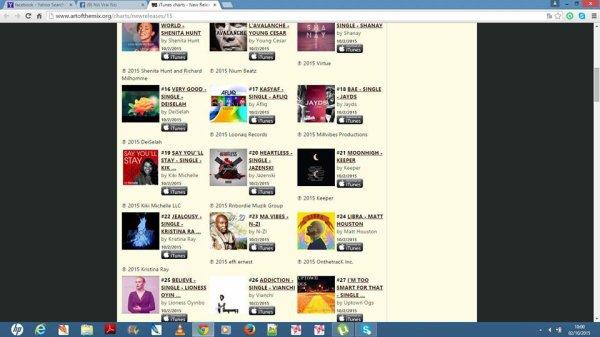 numero 22 au classemnt charts!!