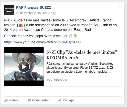 n-zi sur rap français buzz