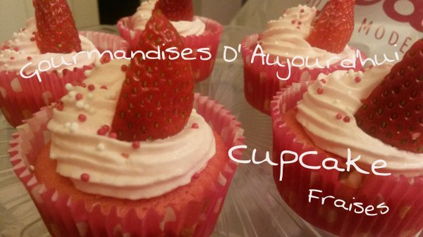 Cup Cake Fraises