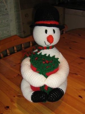 Bonhomme de neige avec couverture
