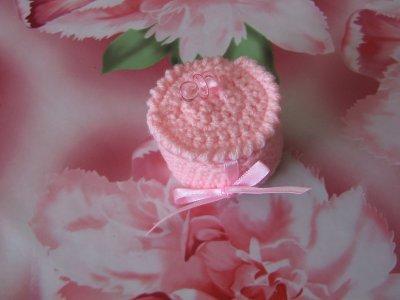 Boîte à dragées rose tétine