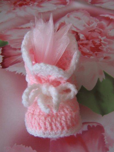 Chausson botte rose