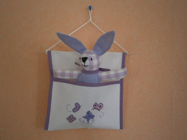 Petite poche + lapin violet