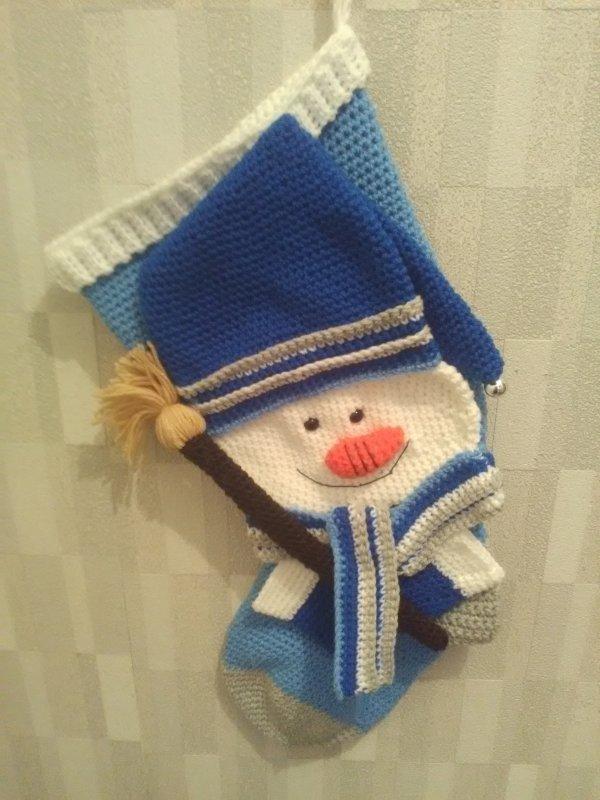 Chaussette bonhomme de neige