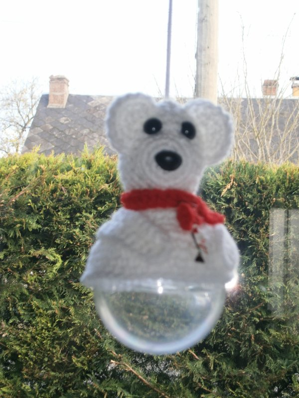 Boule bonbon ours blanc