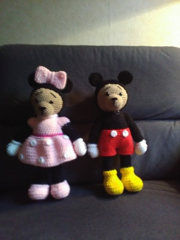 Ours mickey et minnie