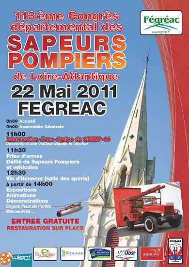 113 eme congré des pompiers de Fregréac ( 44 )