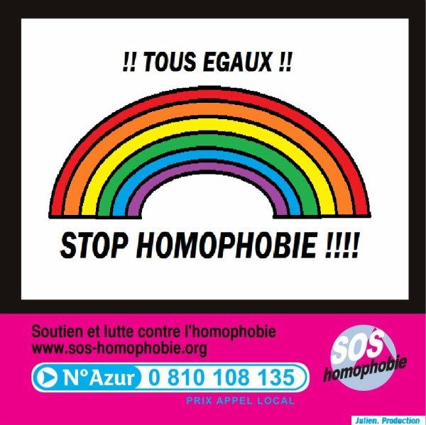 Journée National contre l'HOMOPHOBIE.