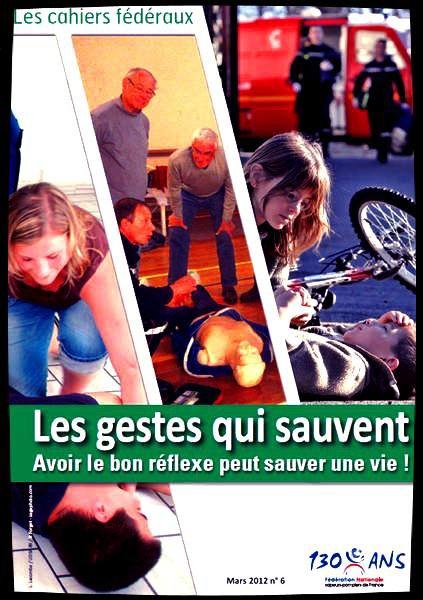 Cahiers fédéraux : les gestes qui sauvent !!!