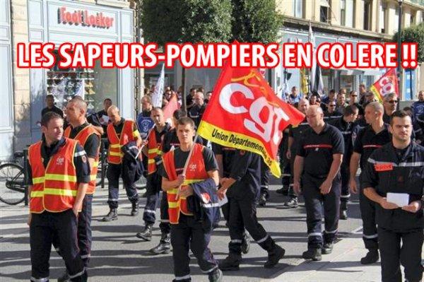 POMPIERS EN COLÈRE !!!!