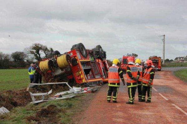 Camlez. Des pompiers victimes d'un accident de la route !!