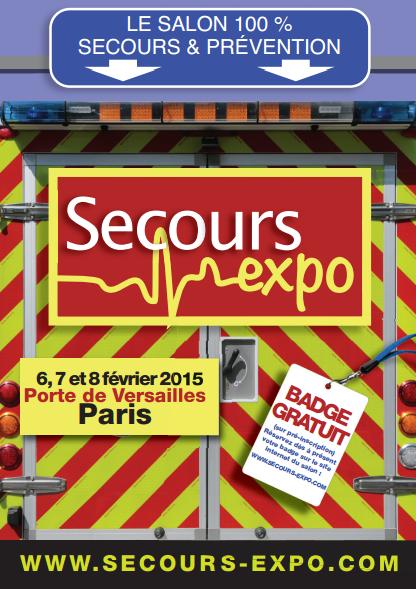 Salon Secours expo 2015 (Du 06 février 2015 au 08 février 2015) [ Entrée gratuite ]