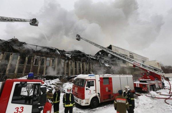 Moscou. Incendie dans plus grande bibliothèque universitaire de Russie !!