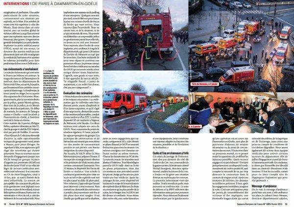 De l'attaque contre Charlie hebdo à l'épilogue de Dammartin-en-Goële: récits de sapeurs-pompiers