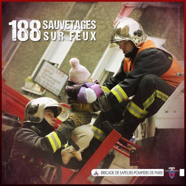 [LE CHIFFRE] 188 personnes sauvées des flammes en 2014 par #PompiersParis