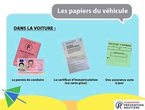 Papiers a avoir impérativement en voitures