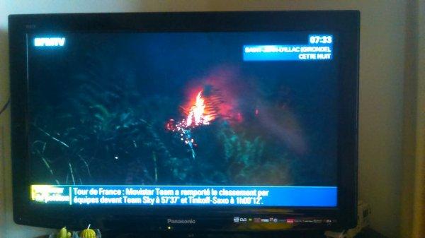 600 hectares parti en feu en Gironde, se matin le feu est stabilisé
