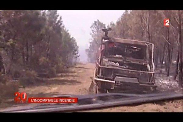 dégâts coté Pompiers sur l'incendie en Gironde