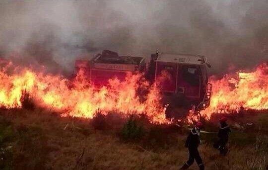 Montpellier : des pompiers ont eu très chaud !!