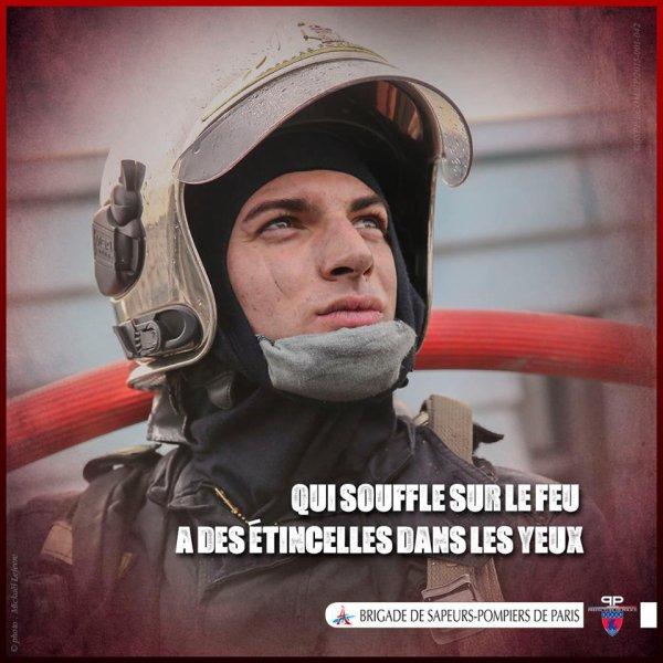 Le sapeur-pompier est un homme passionné par son métier et souvent fier du travail accompli.