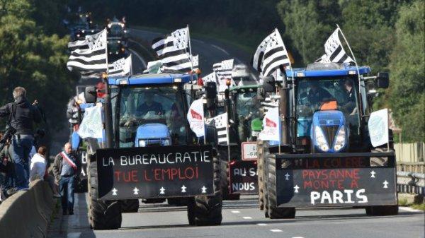 Agriculteurs Bretons en Colère en route pour la Capitale !